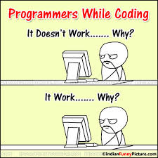 while coding