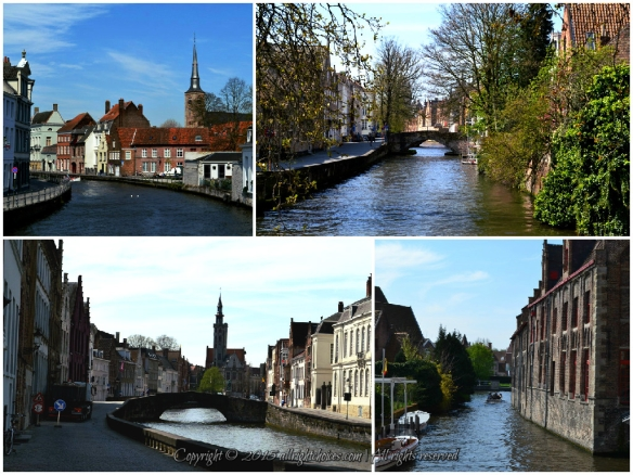 Bruges  bridges water canals