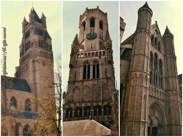 Bruges medieval cathedrals