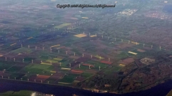 Sea of windmills in Netherlands - Green energy for a cleaner environment