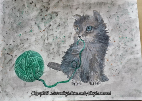 day5-kitty with yarn