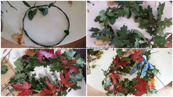 Fall Wreath step by step