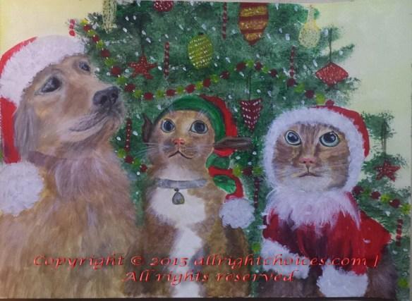 3 pets of xmas