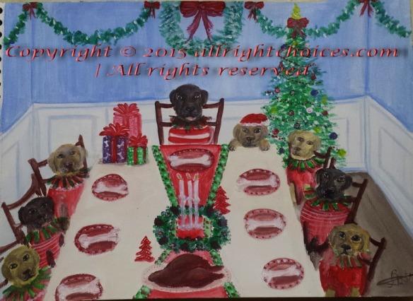 dogs christmas dinner