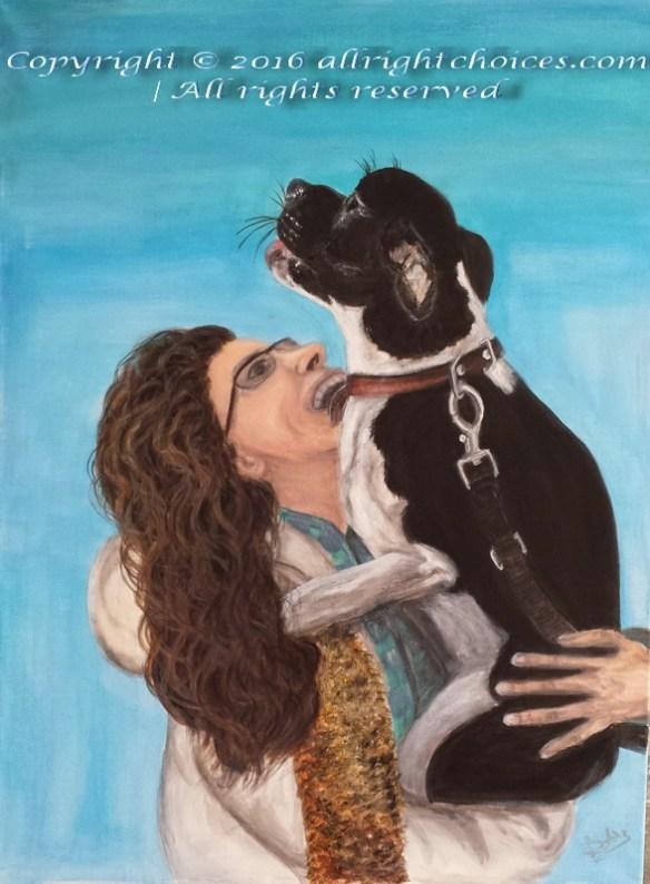 me and lady shelter dog