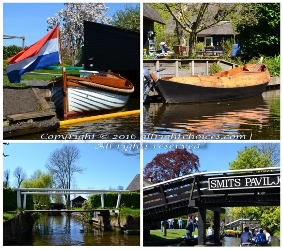 giethoorn water canals bridges boats
