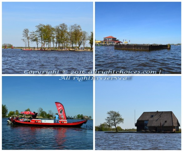 lake ice cream concert hall island for rent giethoorn