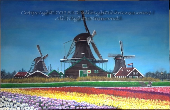 windmills tulips netherlands holland allrightchoices 1