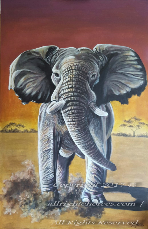 african elephant painting allrc