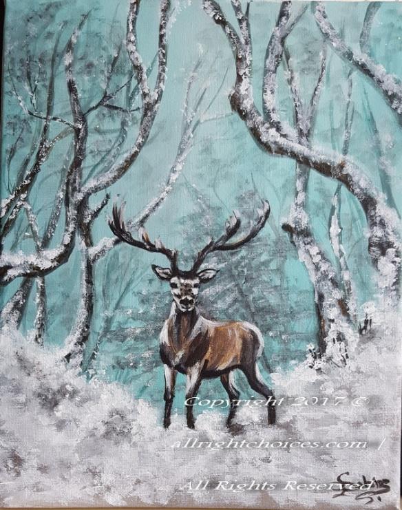 deer forest herten snow allrc