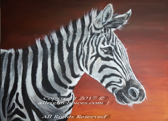 zebra painting art