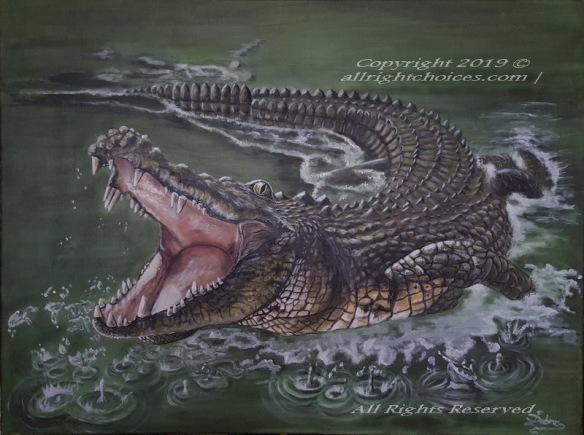 allrc crocodile painting